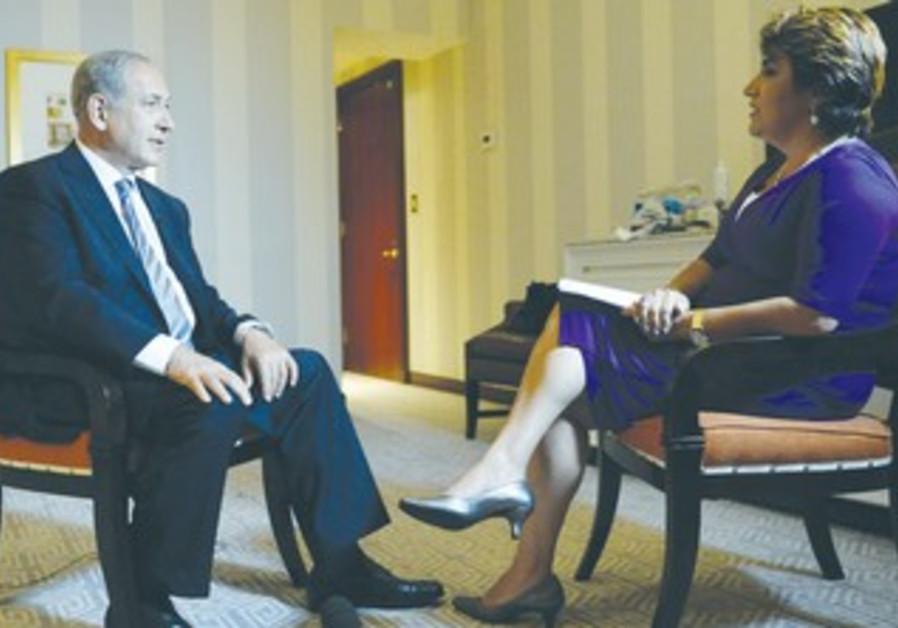 PM Netanyahu speaks with Univision's Adriana Vargas