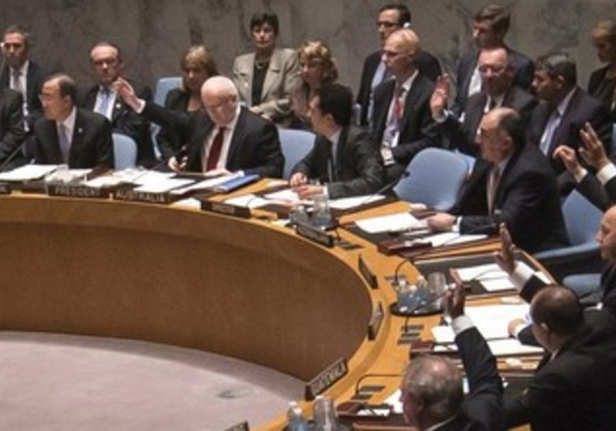 Members of the UN Security Council during a vote on Syria resolution, September 28, 2013.