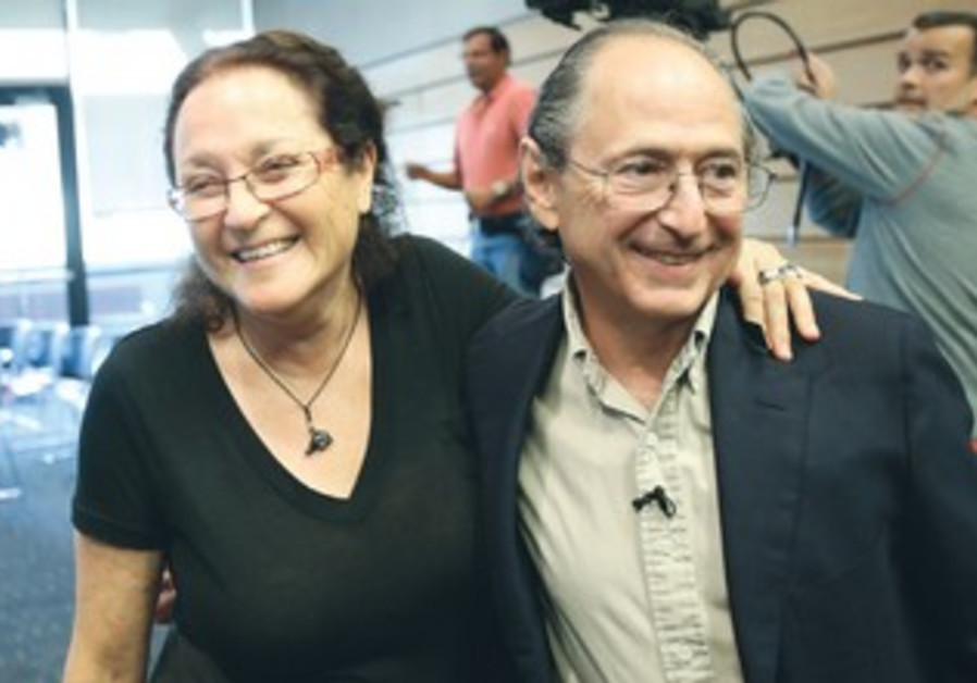 Michael Levitt celebrates Nobel win with wife Rina, October 9, 2013.