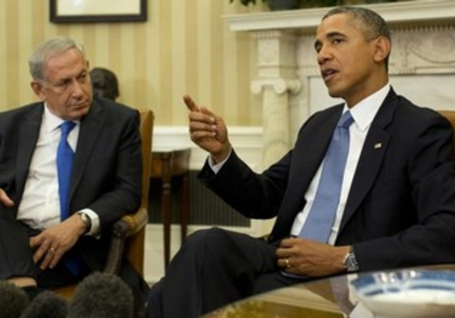 US President Obama and Prime Minister Netanyahu in the Oval Office, September 30, 2013.