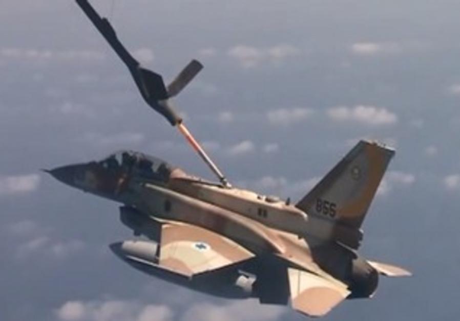 IAF plane refuels midflight during long range mission drill