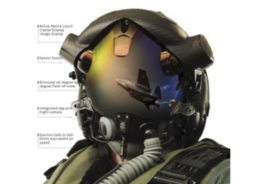 Helmet mounted display system.