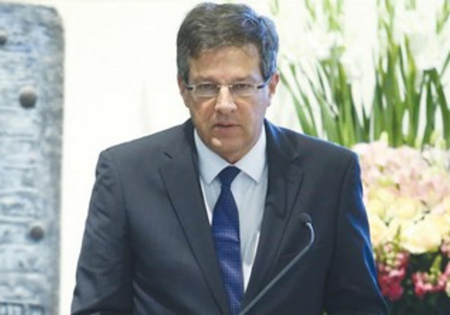 YUVAL RABIN speaks at a memorial for his father.