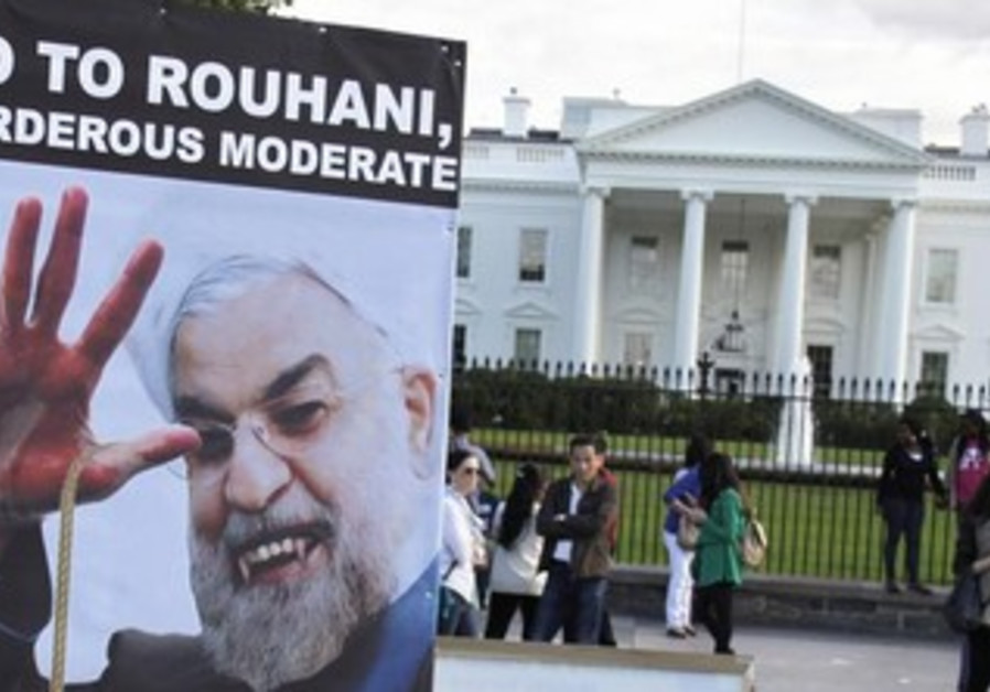 Iranian Americans protest