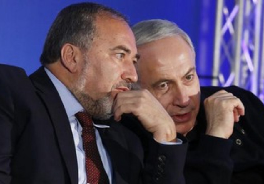 Prime Minister Netanyahu and former FM Liberman