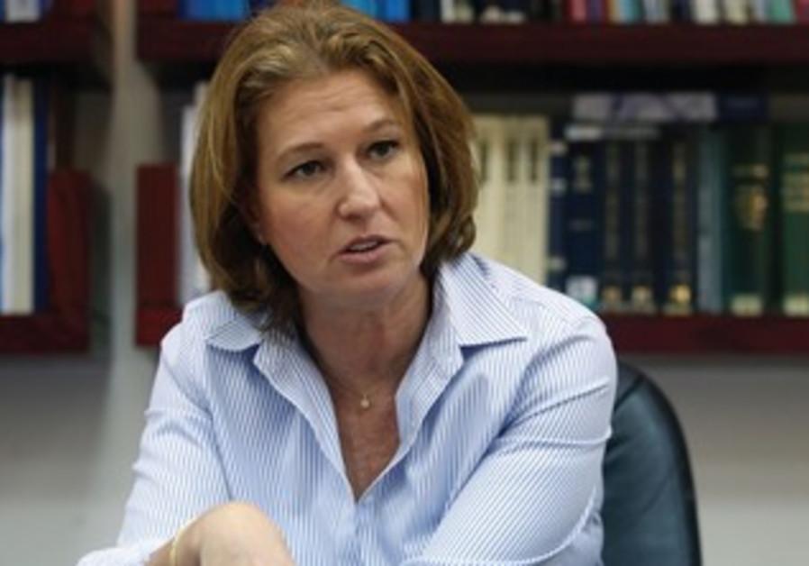 Justice Minister Tzipi Livni