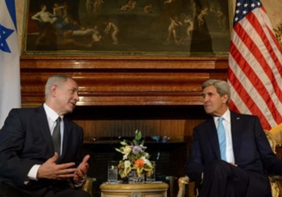 Netanyahu and Kerry meet in Rome, October 23, 2013
