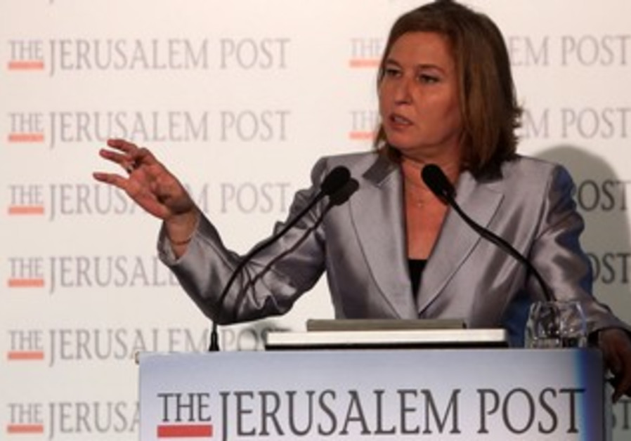 Justice Min. Tzip Livni at the JPost Diplomatic Conference
