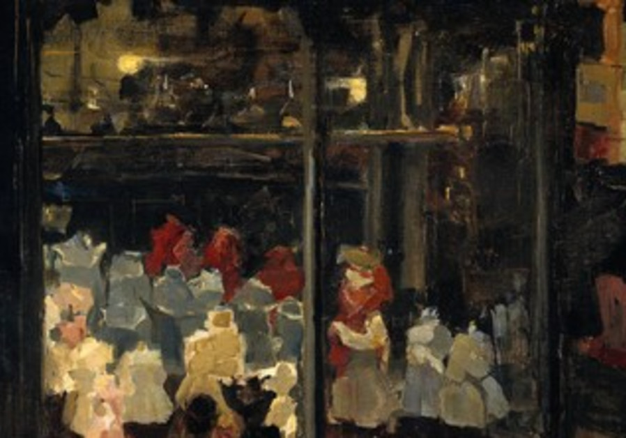 Shop window by Isaac Israels, 1894-1898