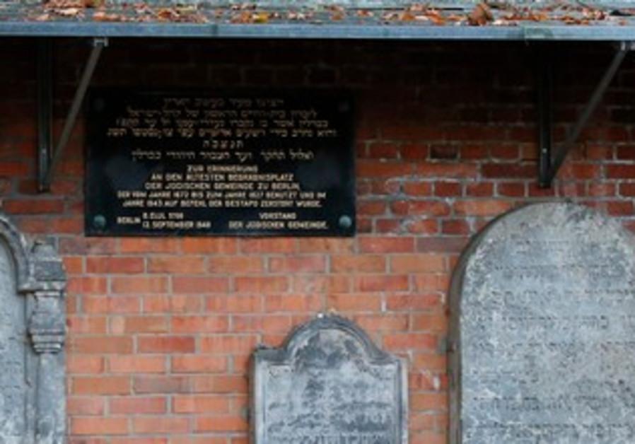 Grosse Hamburger Strasse Jewish cemetery in Berlin.