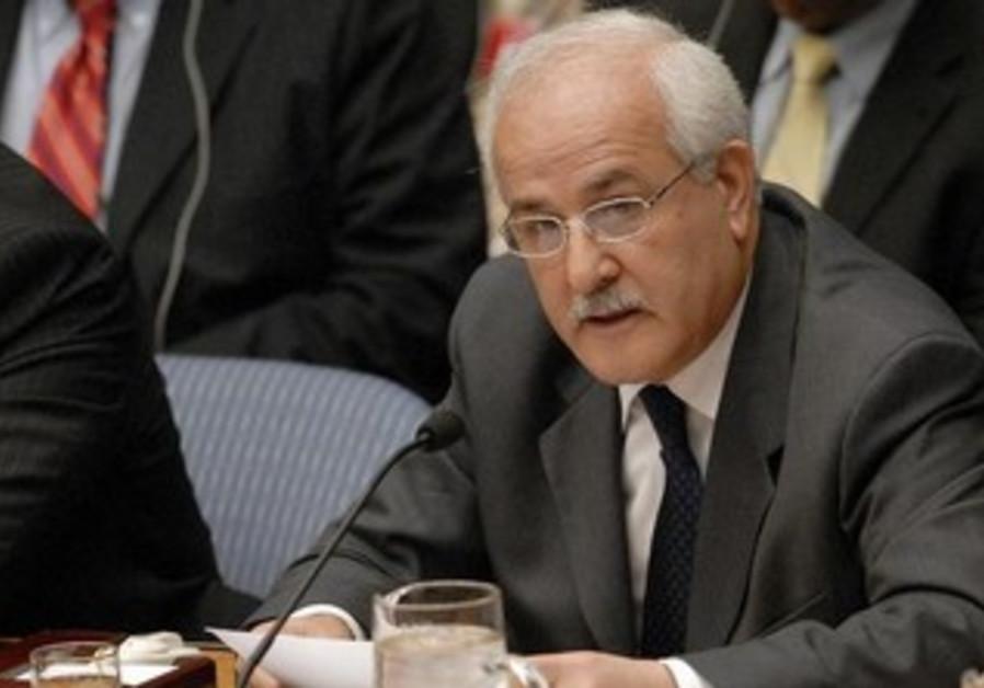 Palestinian UN observer Riyad Mansour.