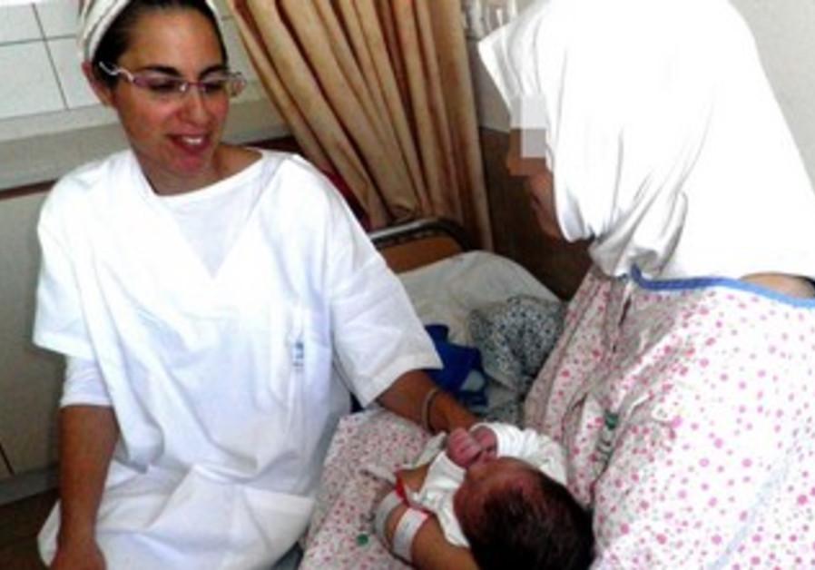 First Syrian refugee baby born in Israeli hospital.