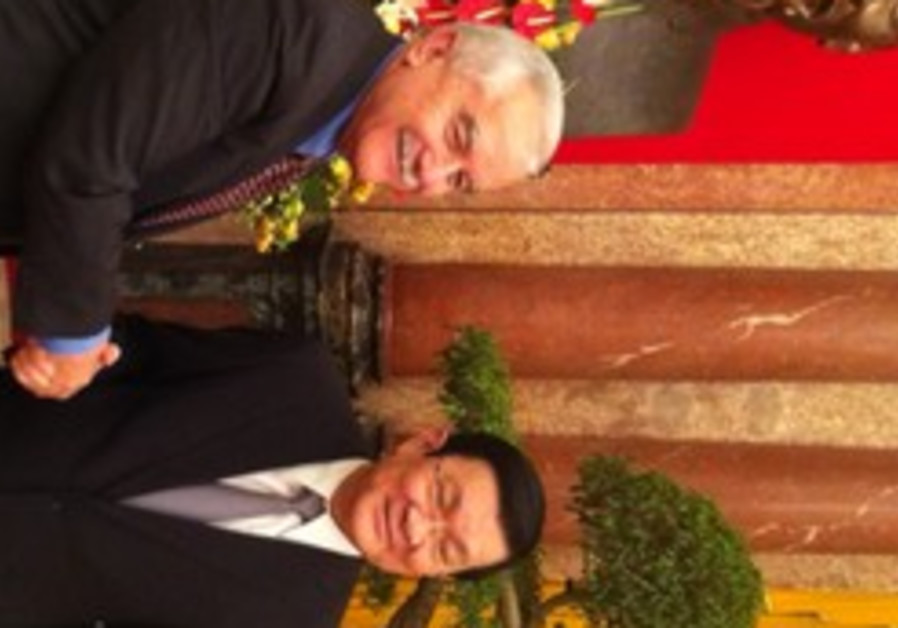 Agriculture Minister Yair Shamir with Vietnamese President Truong Tan Sang.