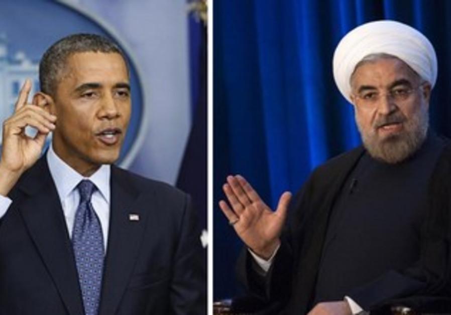 US President Barack Obama and Iranian President Hassan Rouhani.