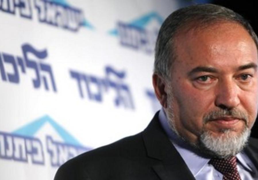 Yisrael Beytenu leader Avigdor Liberman.