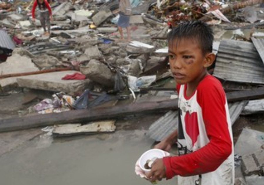 Ruins of houses after Super Typhoon Haiyan battered Tacloban city in central Philippines November 10