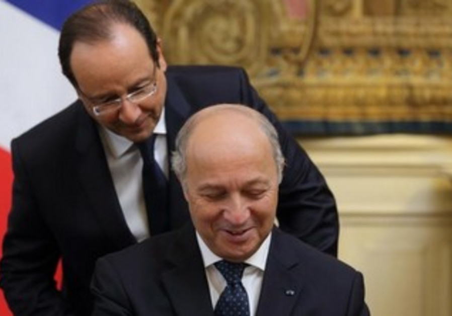 French President Francois Hollande and FM Laurent Fabius