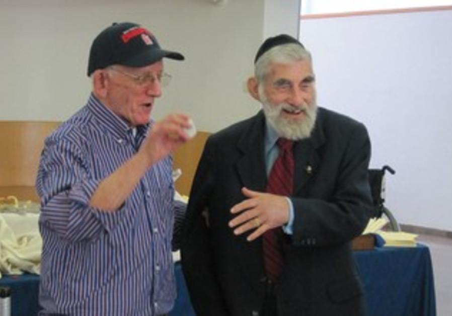 DAVID GEFFEN (left) and Ezra Gorodesky.