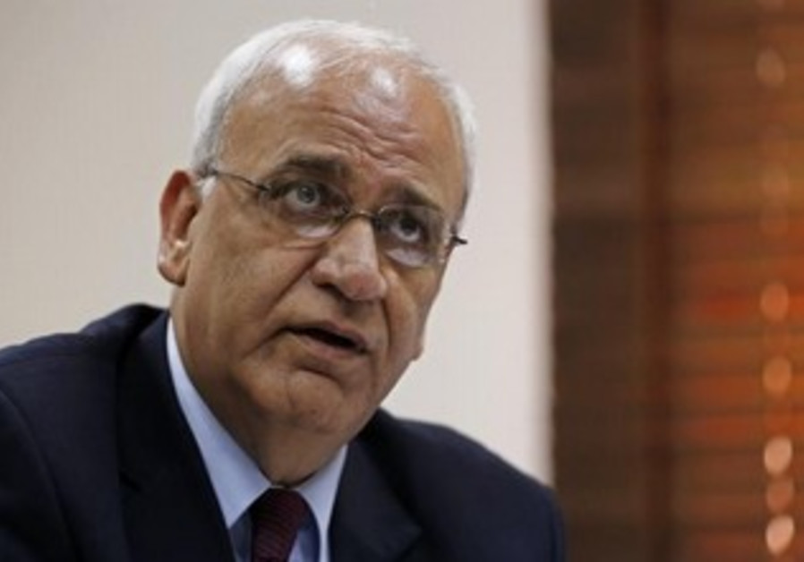 Palestinian negotiator Saeb Erekat [file].