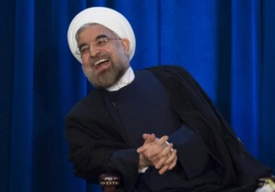 Iran's President Hassan Rouhani at an event hosted by the Council on Foreign Relations.