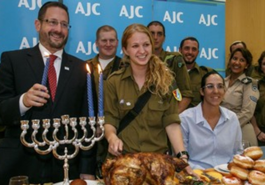 Thanksgiving and Hanukkah Dinner for Lone Soldiers with Member of Knesset Dov Lipman