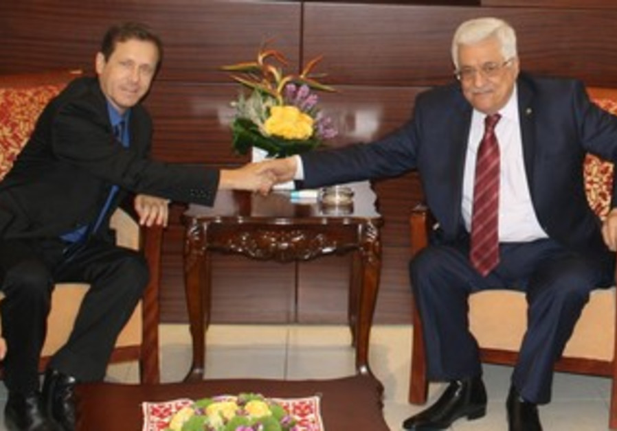 Opposition leader Isaac Herzog (Labor) met with PA President Mahmoud Abbas.