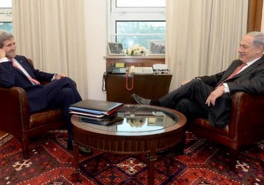 US Sec. of State kerry and  PM Netanyahu meet in Jerusalem, Dec 5, 2013
