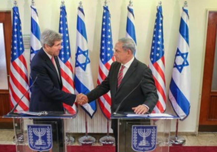 Prime Minister Binyamin Netanyahu and US Secreatry of State John Kerry in Jerusalem, Dec. 5, 2013