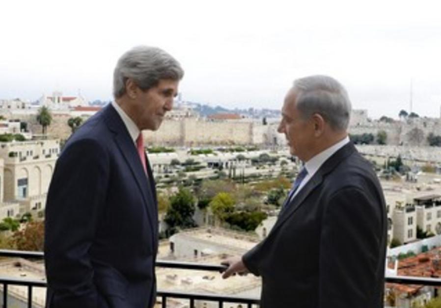 PM Binyamin Netanyahu and US Secretary of State John Kerry, December 6, 2013.