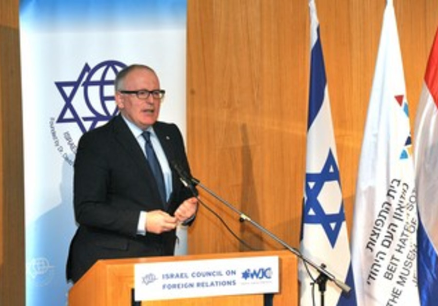 Dutch Foreign Minister Frans Timmermans.
