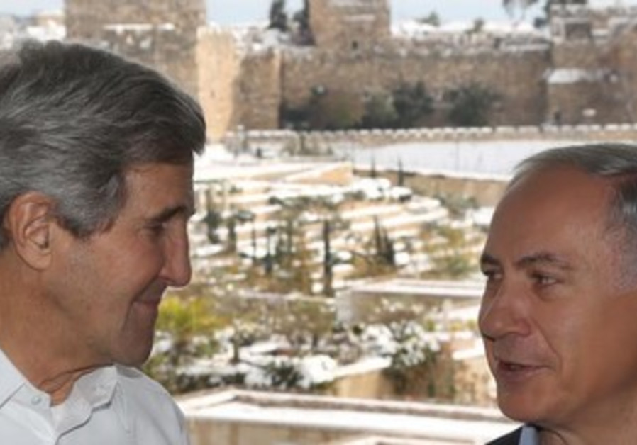Kerry and Netanyahu in Jerusalem, December 13, 2013