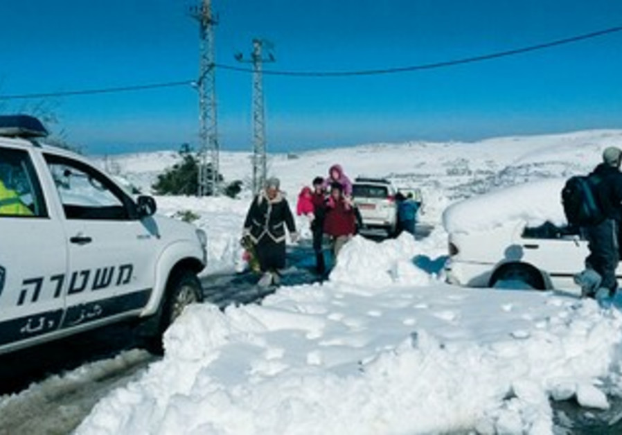 Samaria residents take shelter from storm