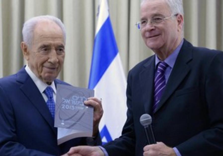 President Shimon Peres and Yitzhak Kadman