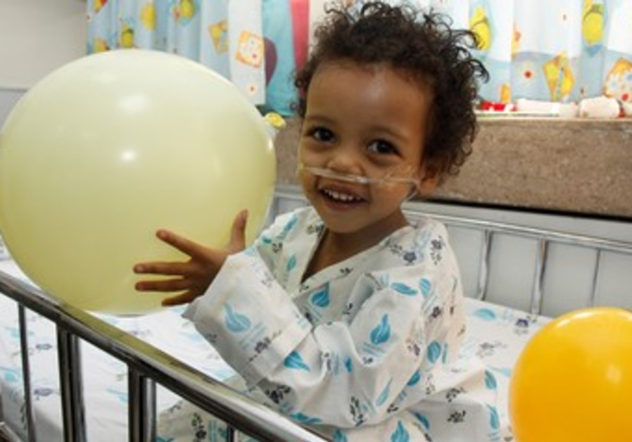 Hayat from Ethiopia after her heart surgery