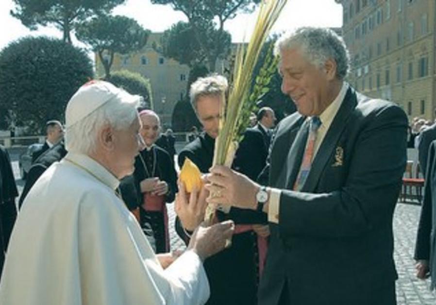 RABBI MARK WINER with then-Pope Benedict XVI in 2006.