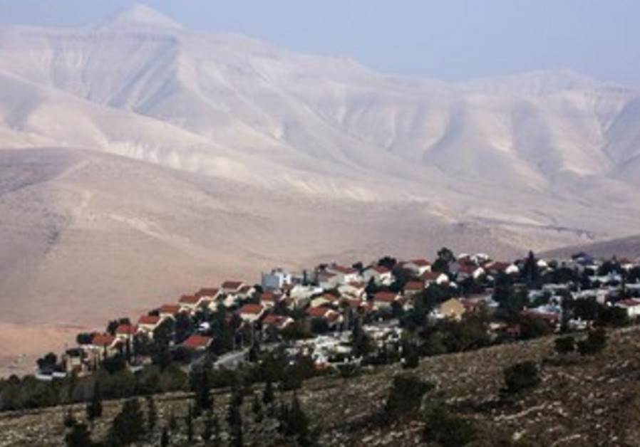 A view of the Jewish settlement of Maale Ephraim.