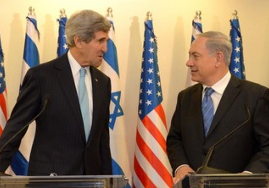 Prime Minister Binyamin Netanyahu and US Secretary of State John Kerry.