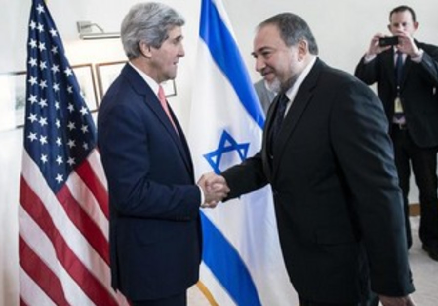 US Secretary of State John Kerry and FM Avigdor Liberman