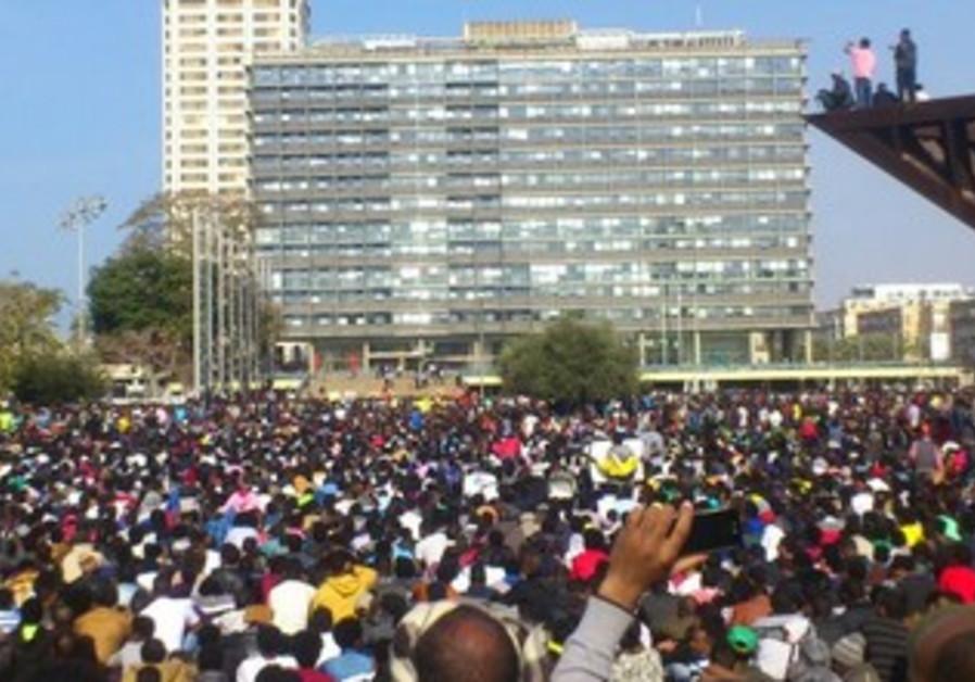 Asylum seekers protest, January 5, 2014