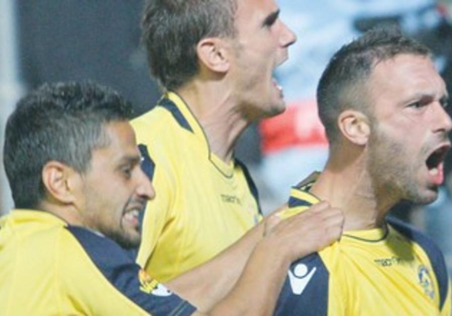 Maccabi Tel Aviv players celebrate 370