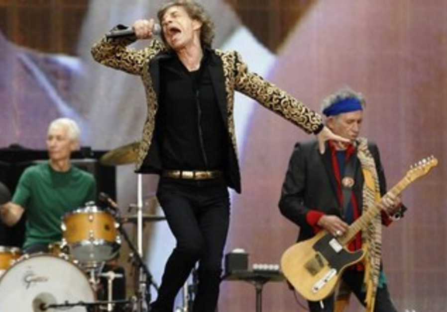 The Rolling Stones perform on stage