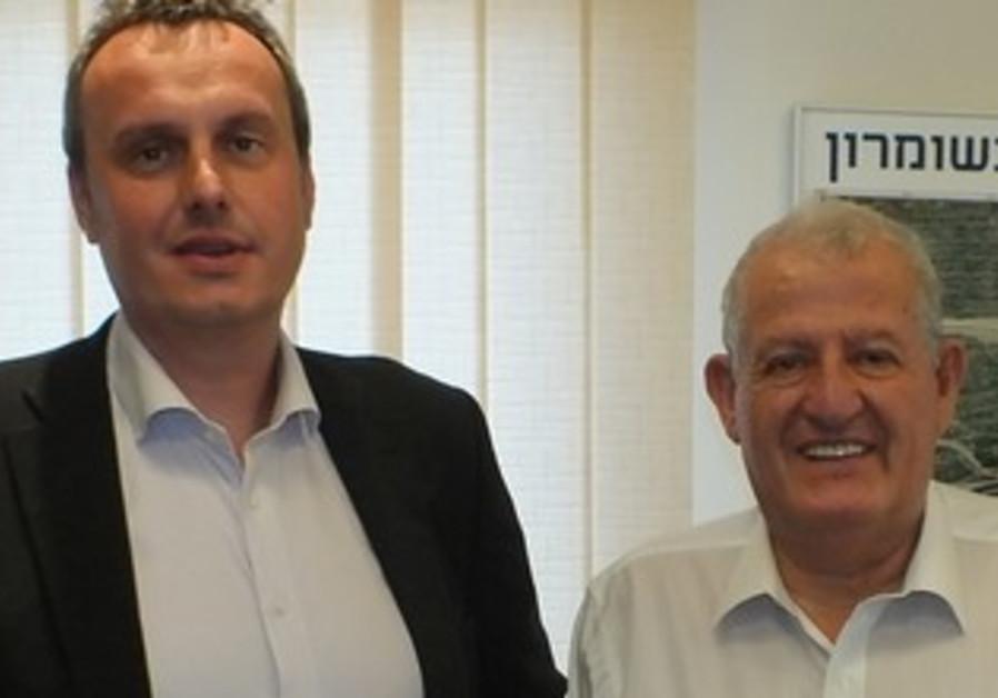 Ambassador Pojar (left) with President of Ariel University Yehuda Danon.