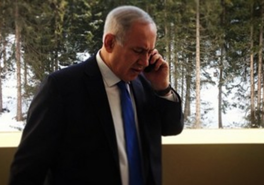 Prime Minister Binyamin Netanyahu in Davos.