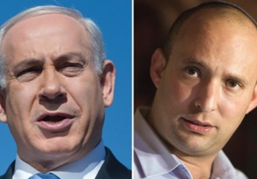 Prime Minister Binyamin Netanyahu and Economy Minister Naftali Bennett