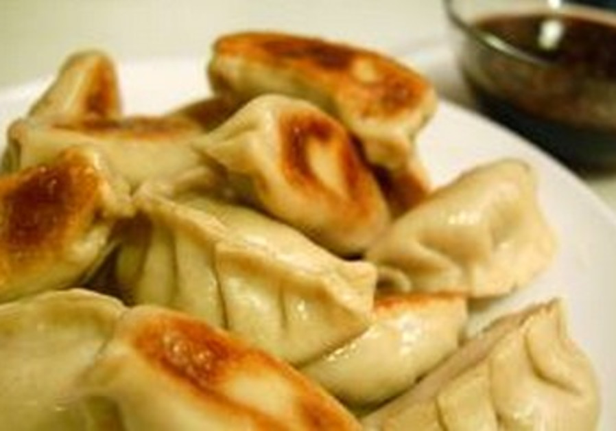 Shitaki-turkey pot stickers