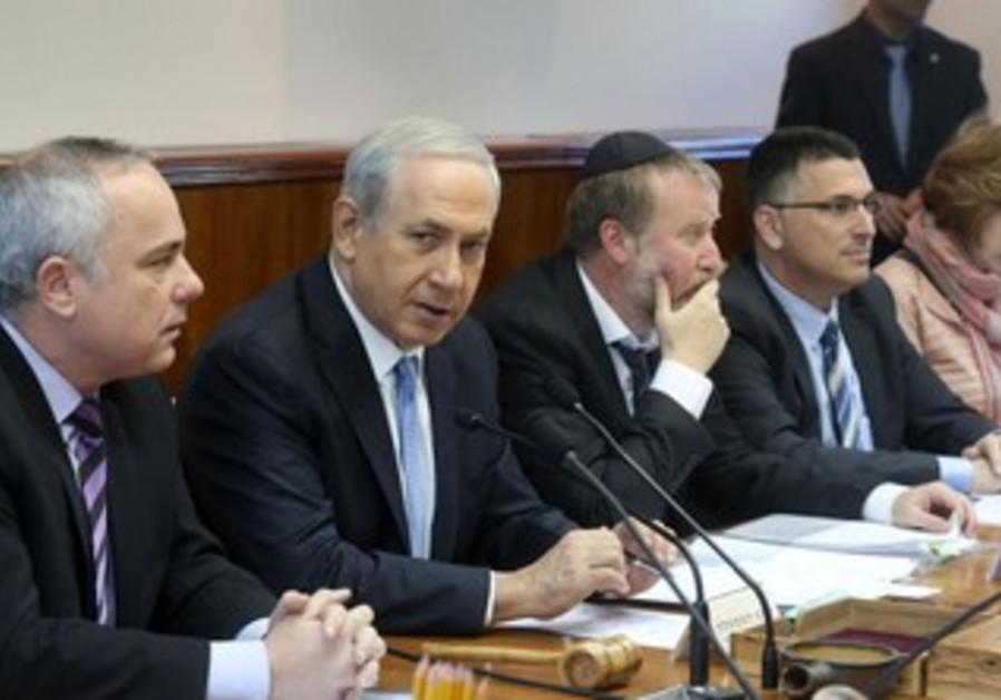 Prime Minister Binyamin Netanyahu convenes his cabinet on Sunday.