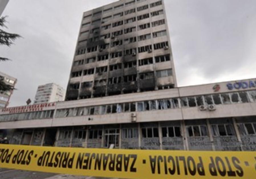government building in Tuzla in Bosnia