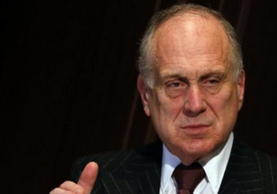 World Jewish Congress President Ronald Lauder talks to Reuters in Berlin.
