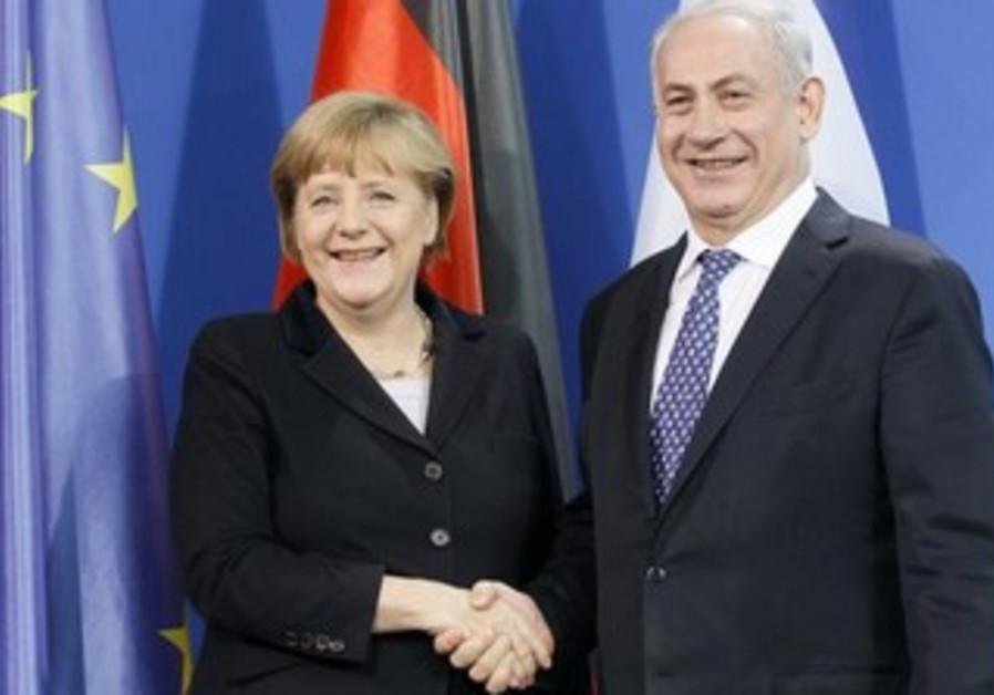 Merkel Netanyahu