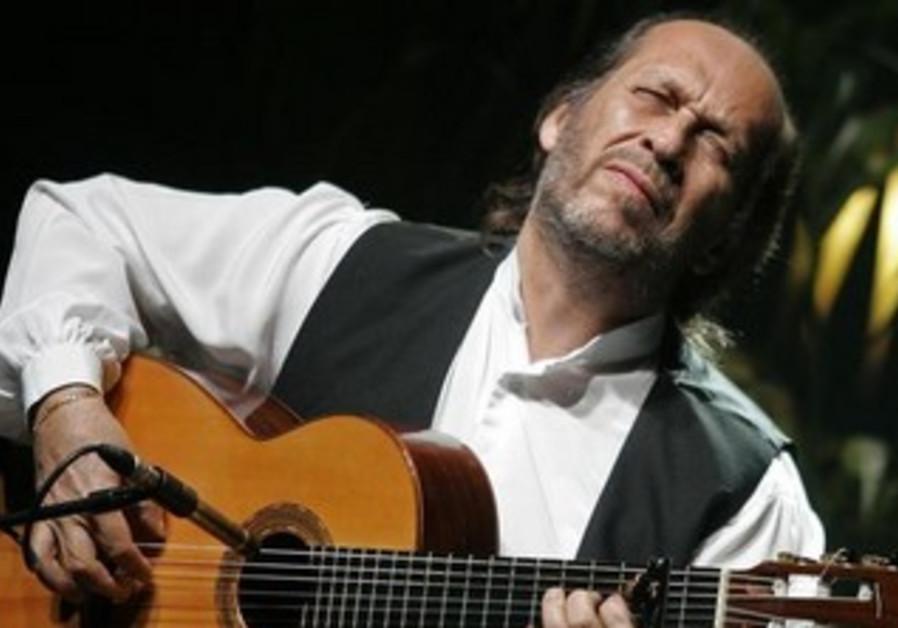Spanish guitarist Paco de Lucia performs in Palma de Mallorca.